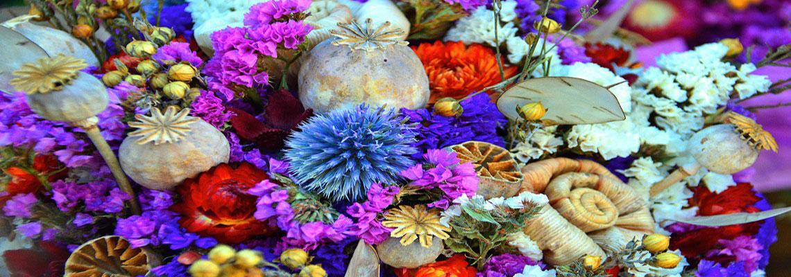 décorer votre intérieur avec des fleurs séchées